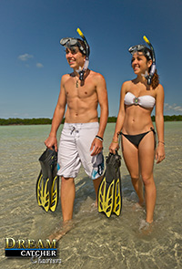 Custom boating charters snorkeling
