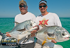 Two permit caught on the wrecks in the Marquesas Keys