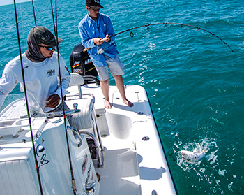 Fishing on a yellowfin 24 bay boat