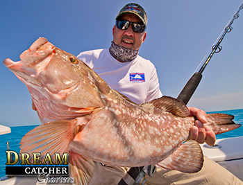 Red Grouper caught in Key West at the reef with Dream Catcher Charters